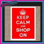 KEEP CALM AND SHOP ON JUTE  SHOPPING GIFT BAG